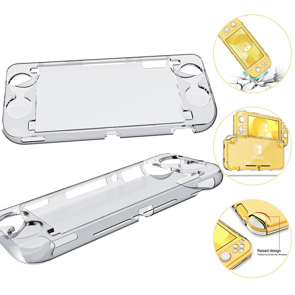 Прозрачный защитный чехол, подходит для Nintendo Switch Lite, чехол для игровой приставки, прозрачный чехол с полным покрытием, Прямая поставка