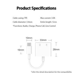 Image 4 - Typ C ładowanie i słuchawki 2 w 1 Adapter w/ DAC 3.5mm gniazdo słuchawkowe do SAMSUNG Note 10 pikseli Huawei OnePlus Xiaomi Oneplus