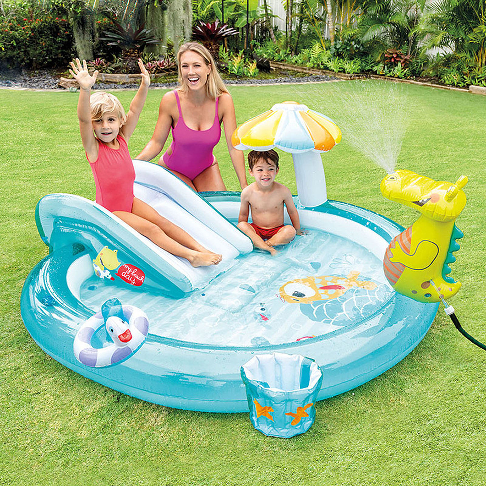 Kids Inflatable Swimming Pool Gator Baby Pool Children Inflatable Bath Tub Large Baby Paddling Pool Outdoor Water Party Toys