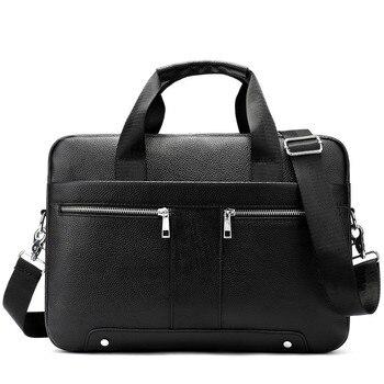 2020 Male Package Genuine messenger bag men Leather Business Affairs Briefcase Head Layer Cowhide Man Single Shoulder Handbag