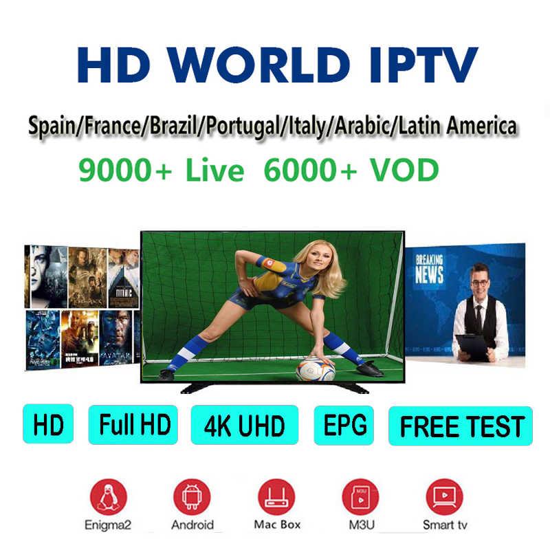 Stabiele Noorwegen Iptv Satellietontvanger Abonnement Full Hd Volwassen Sport Live Channel Spanje Brazilië Arabische Ondersteuning Voor Smart Tv Box