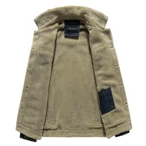 Image 5 - Winter Men Denim Jacket Mens Casual 2020 Man Slim Fit Denim Jackets Coat Outwear Fleece Male Wool Liner Warm Jeans Cowboy Jacket