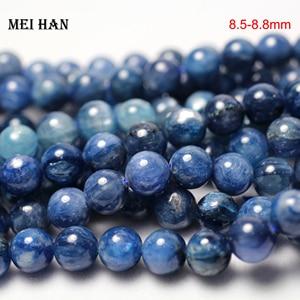 Image 2 - Meihan frete grátis 8.5 8.8mm & 9.2 9.8mm azul natural kyanite suave contas de pedra redonda para fazer jóias