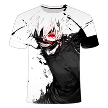 Anime T-shirt Men Hip Hop Tokyo Ghoul 3D Print New style Fashion Short Sleeve Tshirts Summer tops Men clothing Streetwear 2021