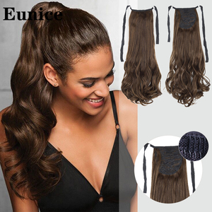 Brown Black Heat Resistant Synthetic Hair Extensions Pony Tail Hair Extensions Drawstring Ponytail Hair Extensions Eunice hair