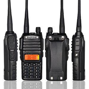 Image 4 - 8W Dual Band Walkie Talkie 10km Baofeng UV 82 FM Transceiver Portable CB Ham Radio 128CH VHF/UHF UV 82 Two Way Radio 2800mAh
