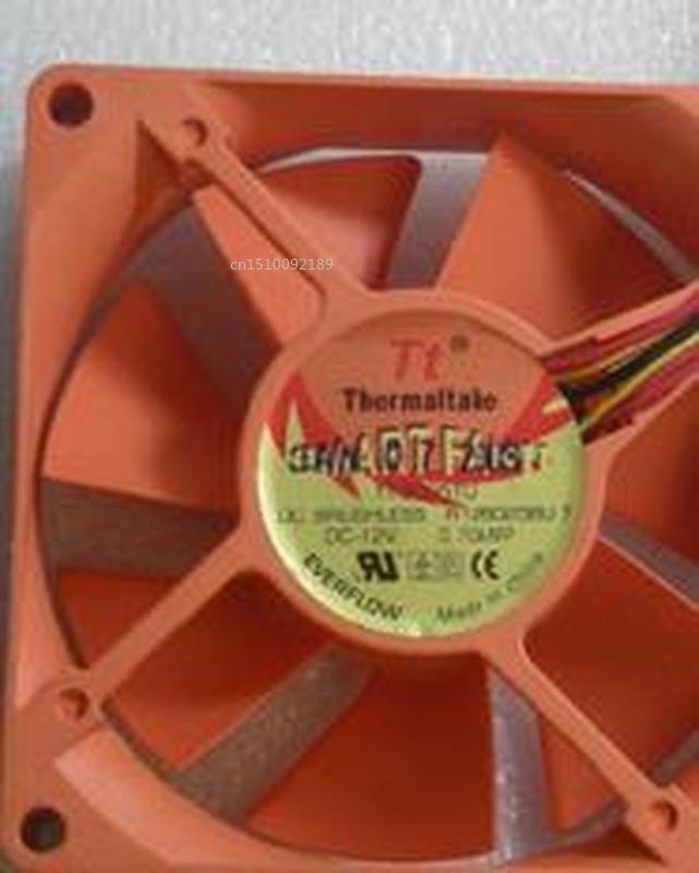 FOR EVERFLOW Thermaltake TT TT8025TU 8025 12V Ball Bearing 8CM Cooling Fan Free Shipping