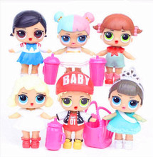 L.O.L.surprise ! 6pcs/set lol dolls toys ornaments toy Confetti Pop glitter series Action Figures Anime For kids Christmas Gifts