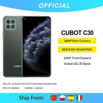 Cubot C30 48MP Quattro Fotocamera Dello Smartphone Offerta 4 Fotocamere Posteriori 8GB + 256GB 32MP Selfie Smartphone Globale 4G LTE Helio p60 NFC 6.4 Pollici FHD+ 4200mAh Batteria Android 10 telefono mobile 1