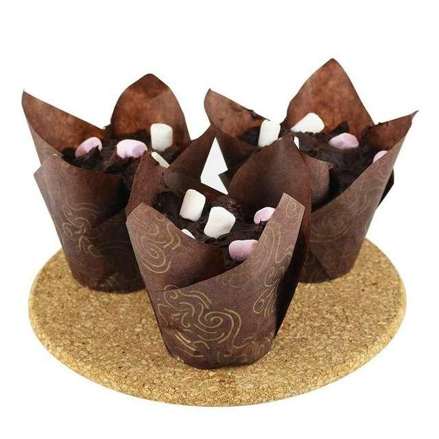 Tulip Shape Cupcake Baking Cup Set 50 Pcs