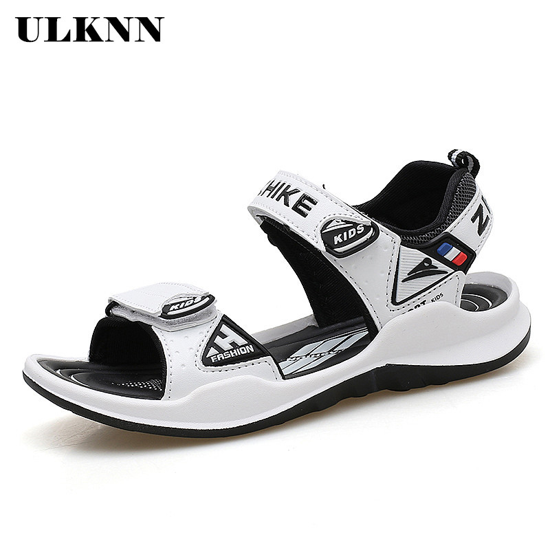ULKNN Summer Boys Sandals For Kids Shoes Beach Children Sandals Girls Shoes Close-Toe Breathable Cut-outs School Sandalias