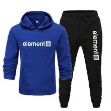 Fashion Brand Men's Hoodies Spring Autumn Male Casual Sweatshirts  Sweatshirt Black print trousers