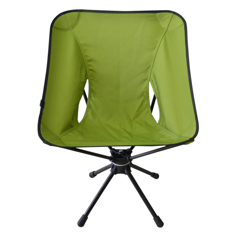 Folding 360 Degree Swivel Aluminum Alloy Portable Camping Chair for Outdoor Picnic Hiking Bicycling Fishing BBQ Beach Patio