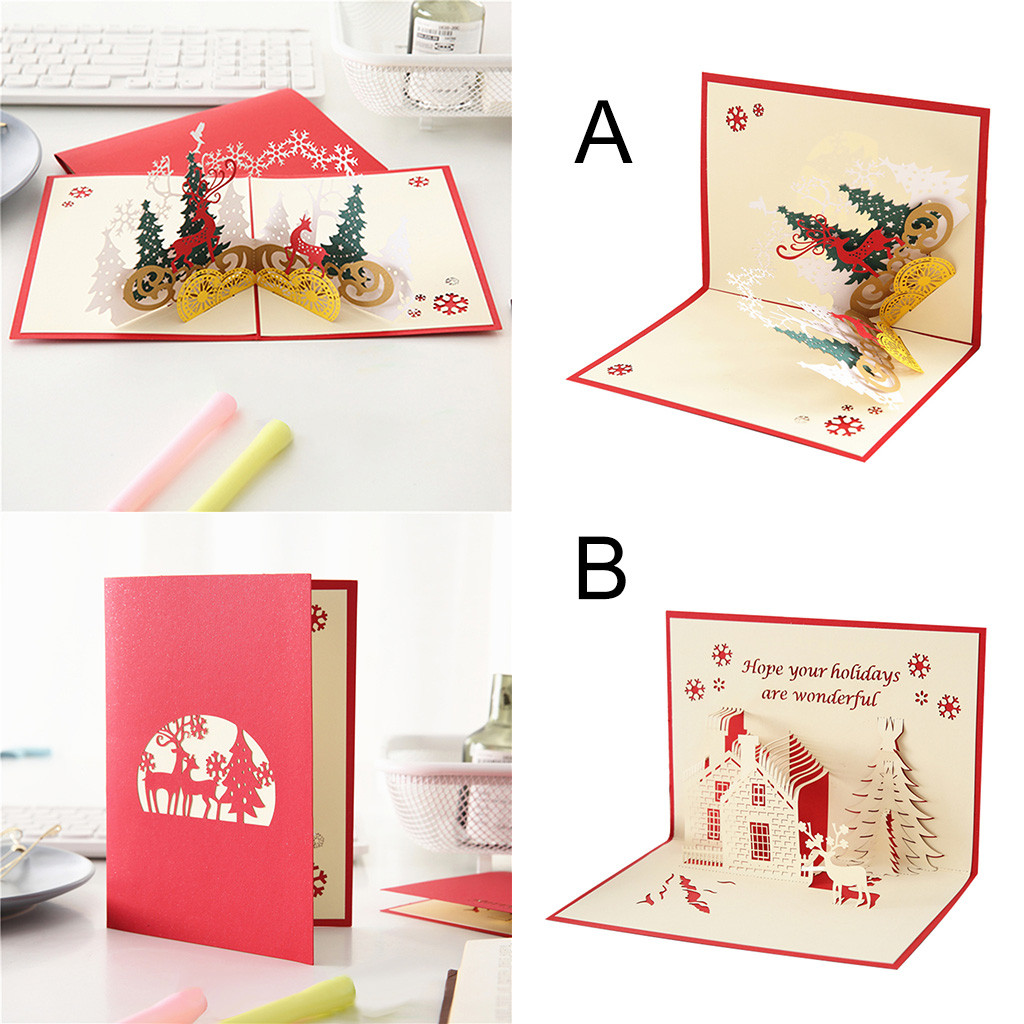 Dropshipping Christmas 3D Stereo Greeting Card AR Virtual Imaging Technology Creative Gifts 2019 High Quality 2019 Hot Selling image