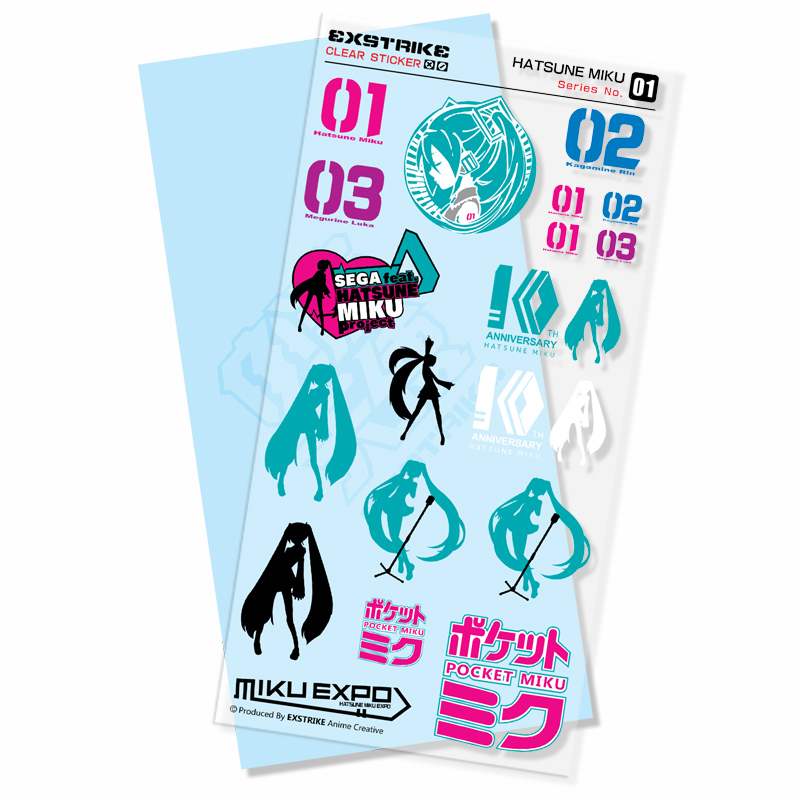 5 Sets/pack High Quality Anime Hatsune Miku Waterproof Transparent Stickers Diary Album Stickers Shipping By ASAP