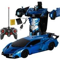 Samochód robot transformujący się sportowe Model pojazdu roboty zabawki ładowania bezprzewodowego fajne zdeformowany samochód z baterii RC zabawkowy Model w Roboty RC od Zabawki i hobby na