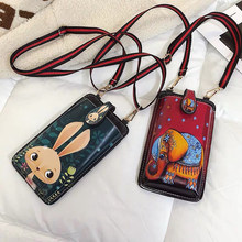 2019 Newly Universal Card Wallet Shoulder Strap PU Leather Phone Bags For Doogee N20 N10 S90 X90L Y8 Y8C X100 S40 Pro S70 S80(China)