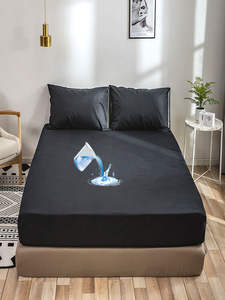 Mattress-Protector-Cover Bed-Linens Protection Solid-Fitted-Sheet Anti-Mite Adults Waterproof