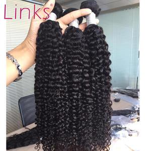 Links Hair-Bundles Human-Hair-Extensions Curly Deep-Wave Mongolian Kinky Nature-Color
