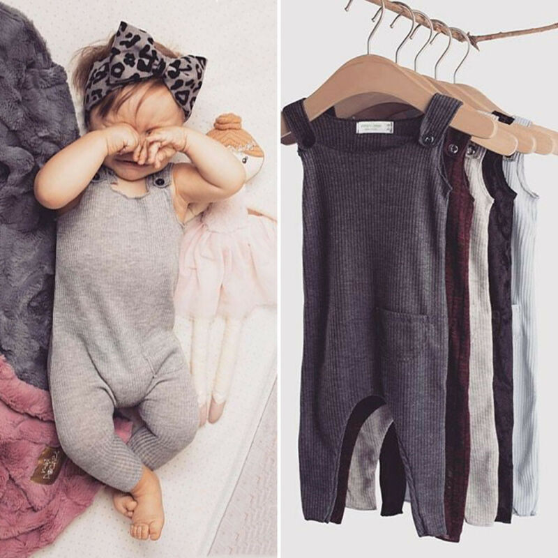 Newborn Baby Boy Girl Summer Clothes Long Jumpsuit Outfits