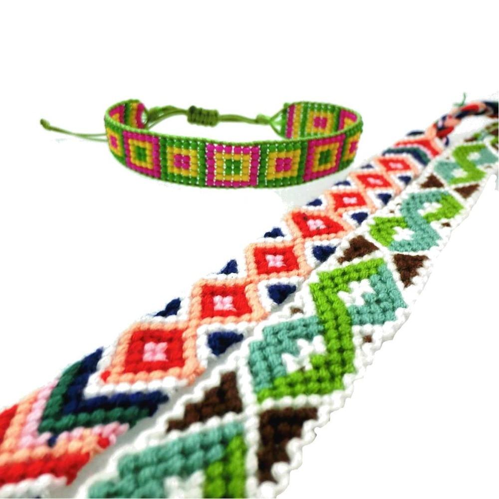 AMIU Jewelry Bohemian Weave Baumwollsamen Perlen Armband Gewebte - Modeschmuck