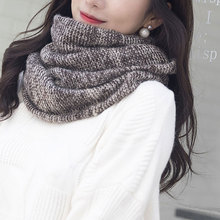 Arrive Ring Men Women\s Nice Winter Warm Infinity 2Circle Cable Knit Cowl Neck Long Scarf Shawl
