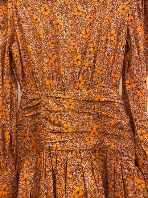 Retro Fashion Flower Print Women Casual O-Neck Puff Long Sleeve Dress 2021 Summer Casual Ruffles Beach Short Dress 6