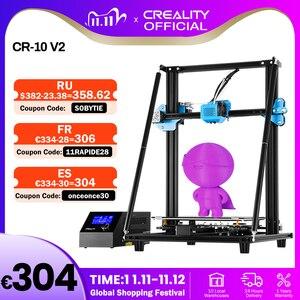 Image 1 - CREALITY CR 10 de actualización 3D para impresora V2, tamaño de impresora 300x300x400mm, placa base silenciosa, hoja de impresión con fuente de alimentación Mean well