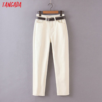 Tangada 2020 fashion women mom jeans pants   2