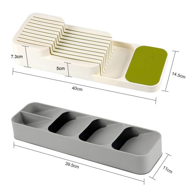Держатель для ножей Кухня Столовые приборы держатель для ножей Кухня Органайзер Кухонный Контейнер Ложка Вилка для хранения разделительный блок для ножей-3