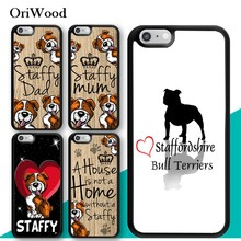 OriWood Staffy mum Staffordshire Bull Terrier TPU Phone Case For Apple iPhone XR XS MAX X 6S 6 7 8 Plus Cover Rubber Coque Shell(China)