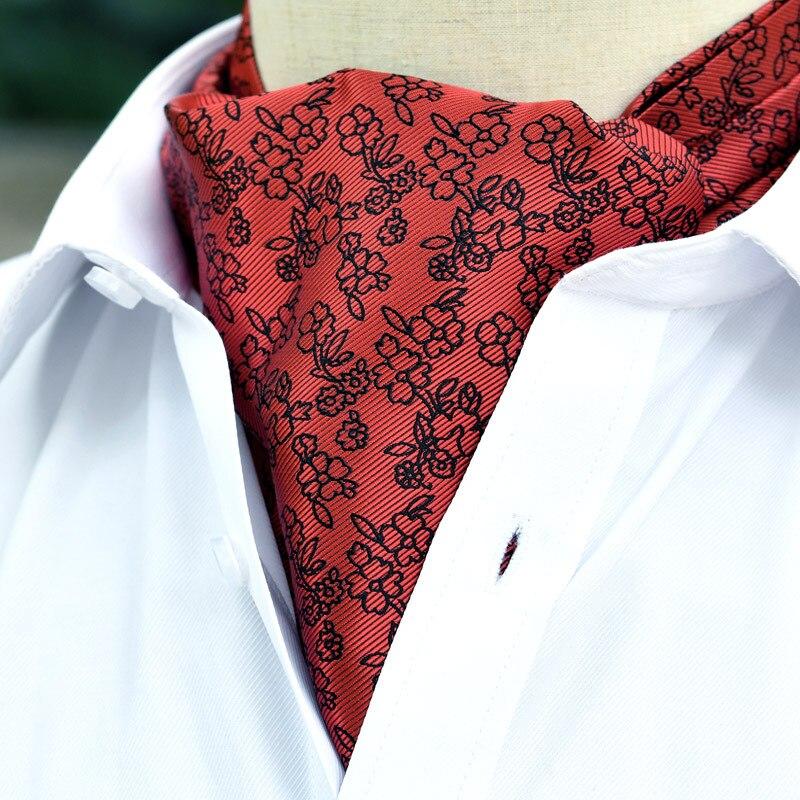 Men's Cravat Korean British Suit Shirt Personality Floral Neckline Scarf Trendy Business Banquet Wedding Accessories Gifts