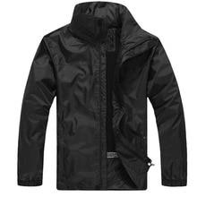 Водонепроницаемая куртка Для мужчин с защитой от ветра от Водонепроницаемый тонкое пальто Для Мужчин's Повседневная куртка спортивная Тренч по индивидуальному заказу одного поколения