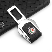 High Quality Car Seat Belt Cover Clip Safety Belts Plug Vehicle mounted For Alfa Romeo Spider Giulia Giulietta 147 159 4c 8c