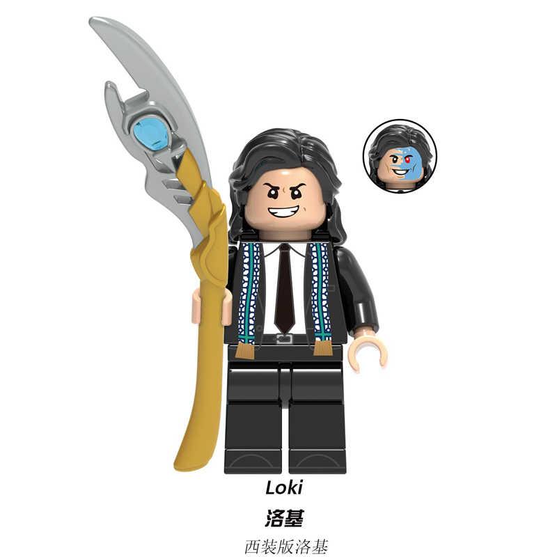 Super heroes Loki con la Bacchetta di Mente Marvel Laufey Frigga Asgard Re Odin Thor Building Blocks Giocattoli dei mattoni Per I Bambini XH1359