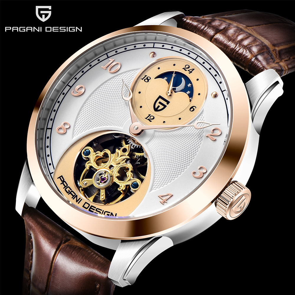 PAGANI DESIGN Mens Watches Top Brand Luxury Automatic Mechanical Sport Watch Mans Wirstwatch Tourbillon Reloj Hombres 2020 New