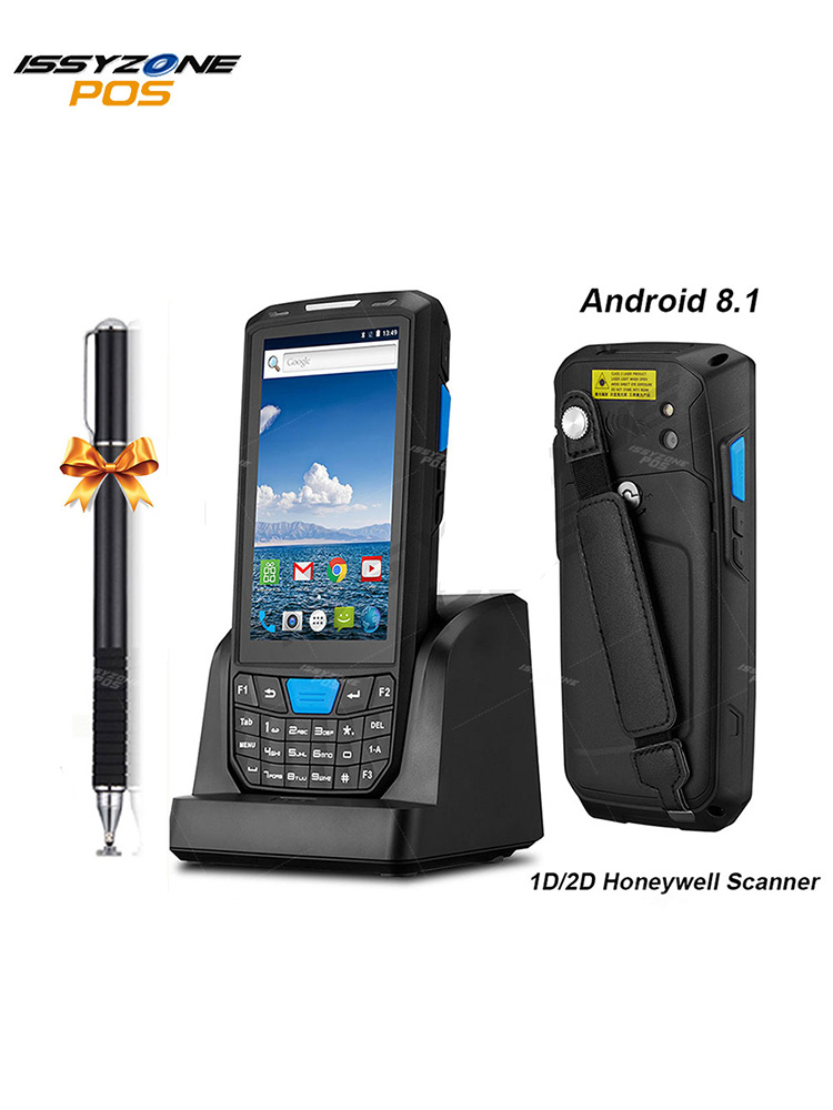 Issyzonepos Barcode Scanner Pos-Terminal-1d Handheld Pda Wifi Bluetooth Android 2D 4G