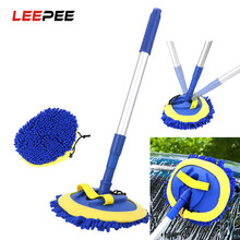 LEEPEE – brosse télescopique de nettoyage de voiture, manche Long, Chenille, accessoires automobiles