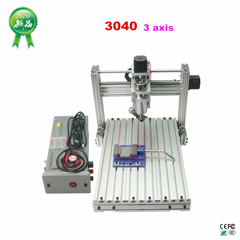 DIY CNC 3040 3axis  Metal CNC Router Engraver PVC Drilling And Milling Machine 400W USB Port