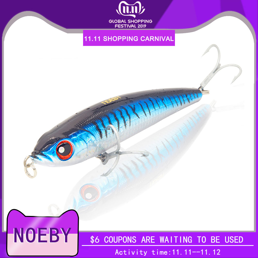 NOEBY NBL9062 Pencil Baits <font><b>Lure</b></font> seawater fishing <font><b>lure</b></font> 140mm 160mm <font><b>180mm</b></font> Sinking Wobbler Bass Isca Artificial Para Pesca Tackle image