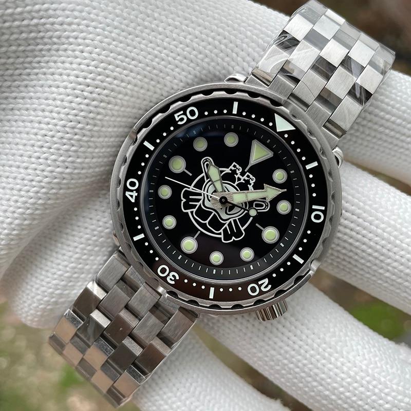 prova dwaterproof água nh35 movimento mecânico relógio