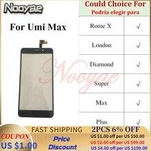 Super Sensor Telefon Ersatz Teile Für Umi Super Rom X London Diamant Max Plus Touchscreen Digitizer Glas Panel
