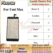 Сменные детали для телефона с супер датчиком для Umi Super Rome X London Diamond Max Plus, стеклянная панель дигитайзера сенсорного экрана