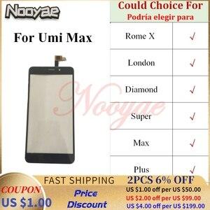 Image 1 - סופר חיישן טלפון חלפים עבור Umi סופר רומא X לונדון יהלומים מקס בתוספת מגע מסך Digitizer זכוכית לוח