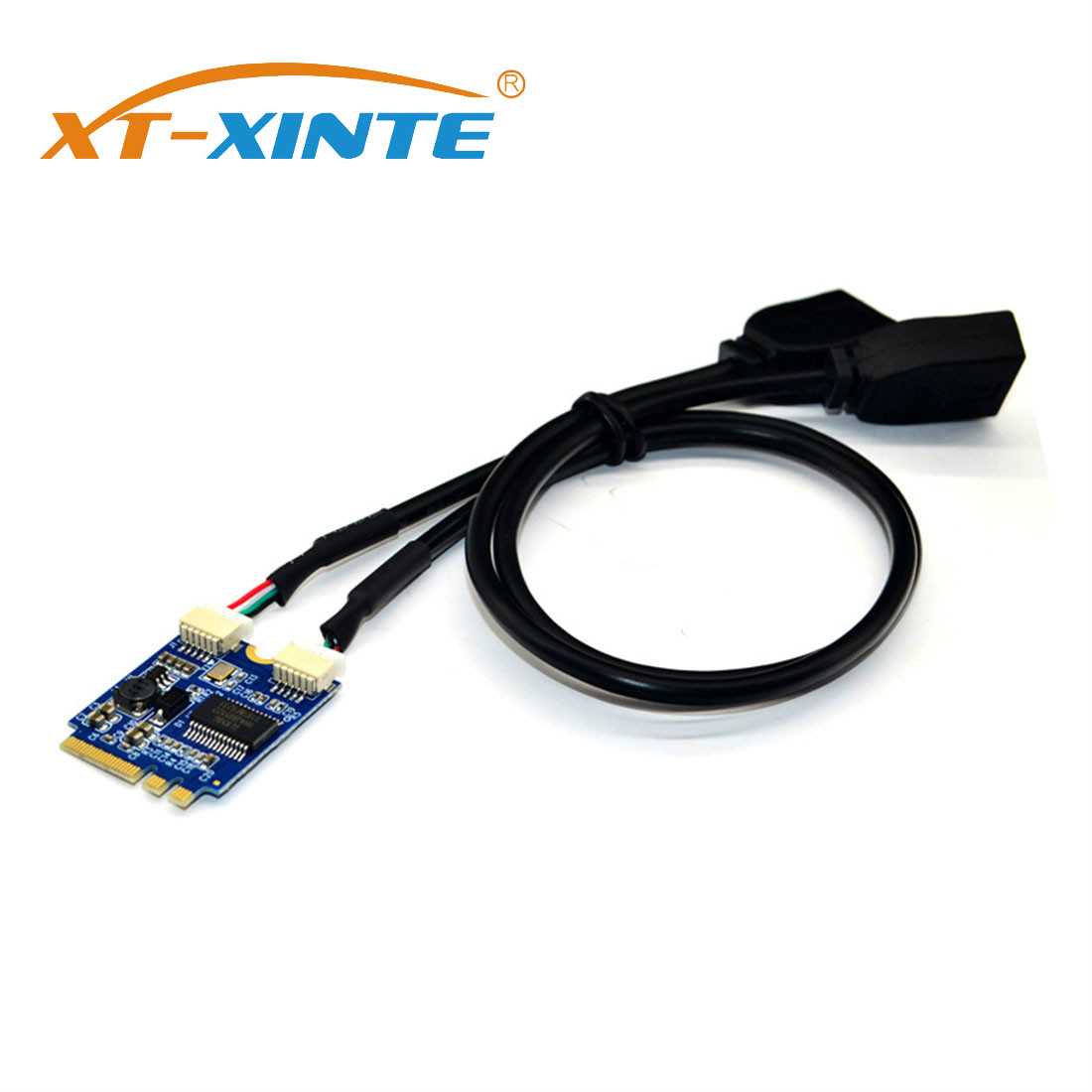 XT-XINTE Riser Card M.2 To USB M.2 NGFF KEY A-E To Dual USB2.0 Expansion Card Converter Cable USB M.2 Riser USB Cable Adapter