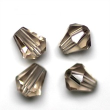 цена на 16 Color Crystal Glass Faceted Teardrop Beads 6x5mm, sold per packet of 200(AM / 6x5MM)
