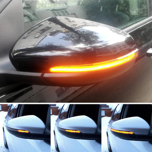 For VW GOLF 6 MK6 GTI R32 08-14 Touran LED Dynamic Turn Signal Light Side Wing Rearview Mirror Indicator Lamp With Bottom Shell(China)