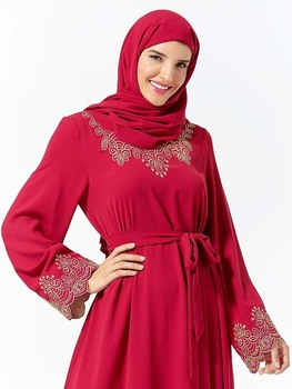 Muslim Fashion Abaya For Women Islamic Dress Dubai Leisure Long Moroccan