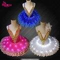 Профессиональная балерина Ruoru, светодиодная Балетная пачка для детей и детей, для девочек и взрослых, танцевальные костюмы, балетное платье ...