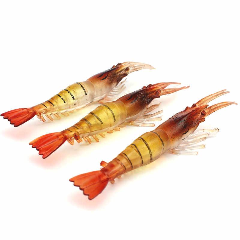 الصيد مقلد الطعم لينة الروبيان السحر الروبيان لينة 7 سنتيمتر/3.5 جرام بيونيك الطعم كاذبة الطعم معدات صيد الأسماك صليب الكارب الفضة البلاستيك